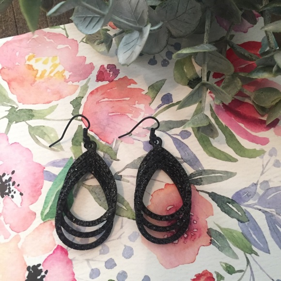 Black Drop Earrings - Brand New without Tags!
